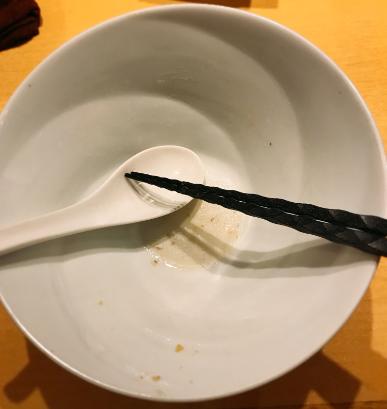 くろきの塩そばを完食