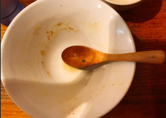 鶏ポタラーメン完食