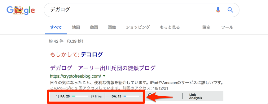 Googleの検索結果でMozBarを活用する