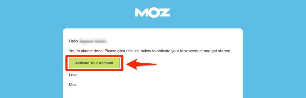 Mozからきたメールを確認し、activateする