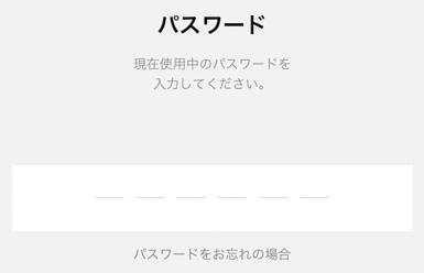 LINEPayの画面でパスワード入力